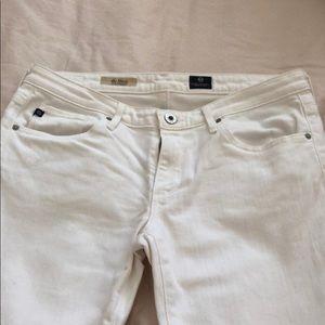 AG White Straight Jeans